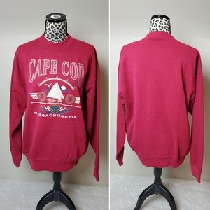 Vintage cotton poly crew neck sweatshirt Cape cod